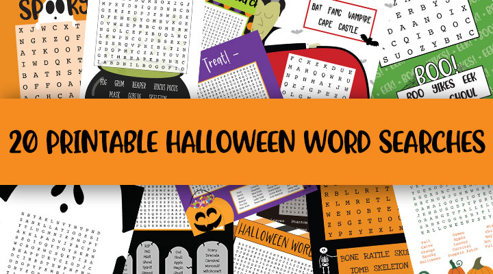printable halloween word searches feature