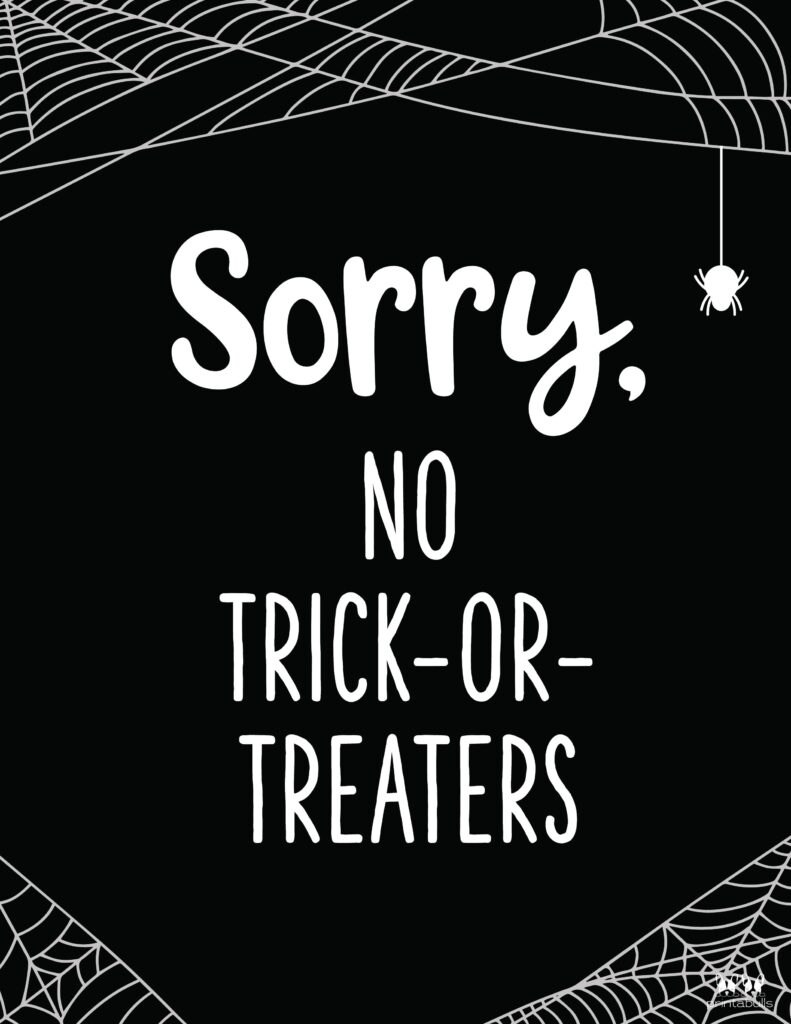 No Trick Or Treaters-1
