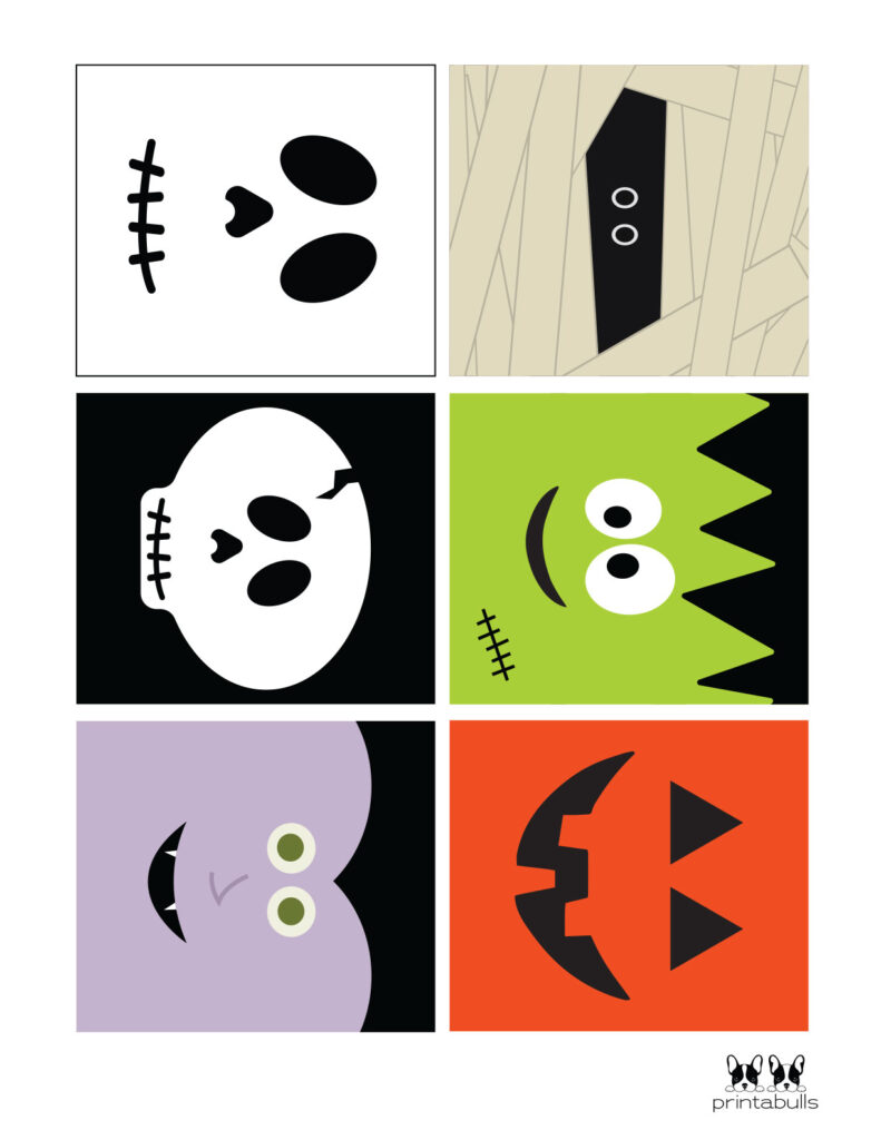 halloween cards with faces
