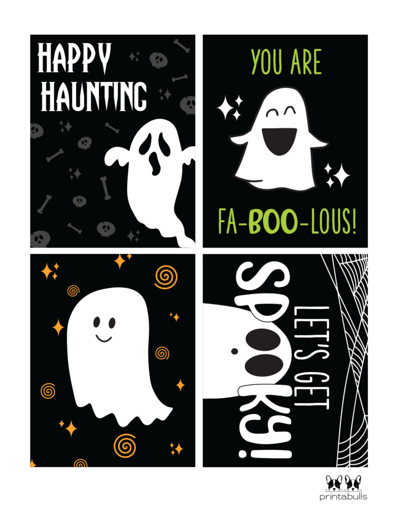 printable halloween cards with ghosts