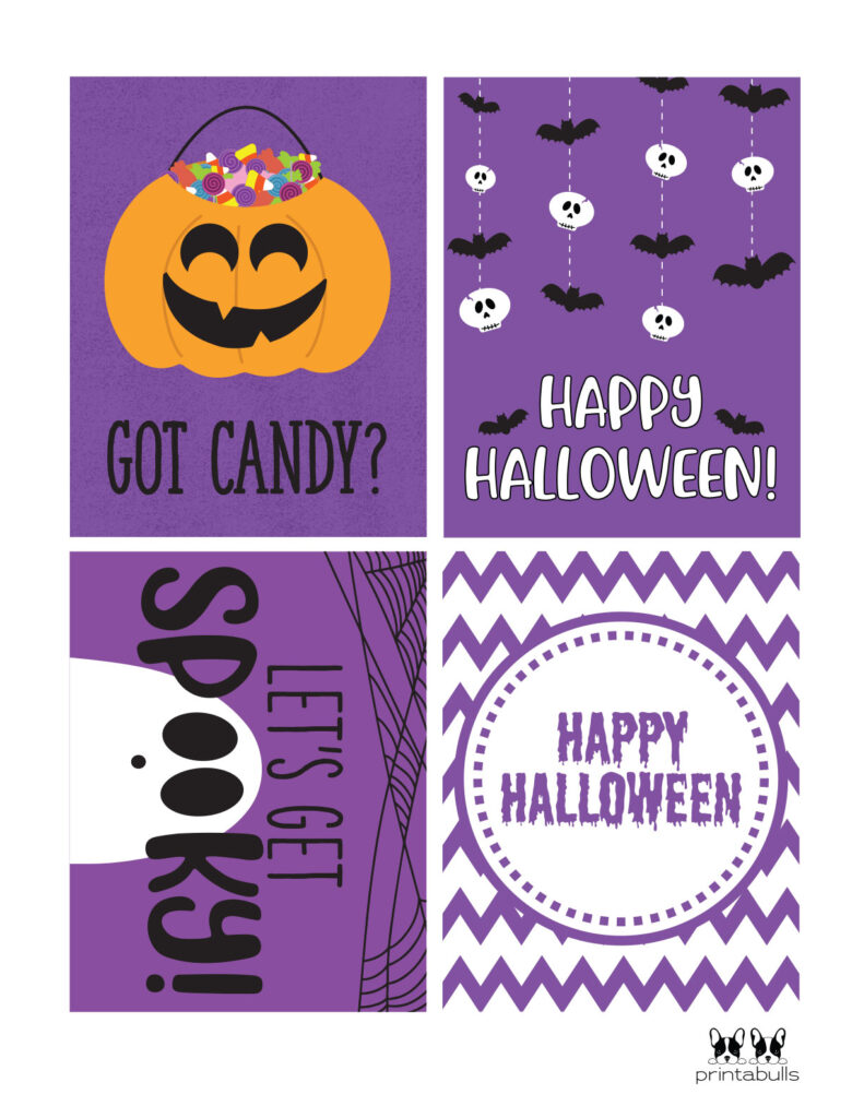got candy and spooky halloween cards