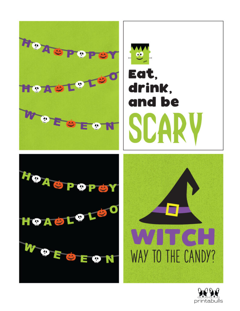 witch way to the candy and scary cards