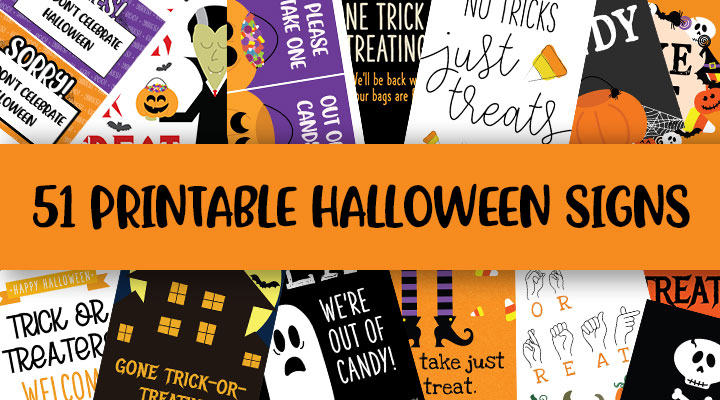 Printable Halloween Signs Feature