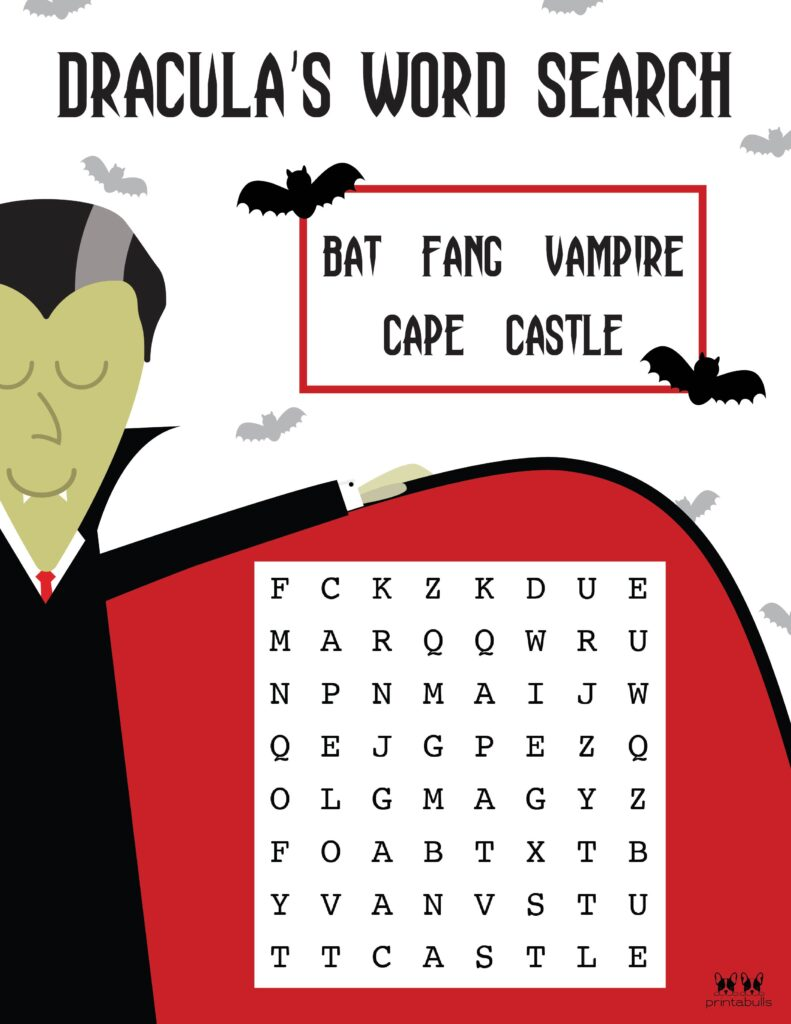 Printable Halloween Word Search Easy 1