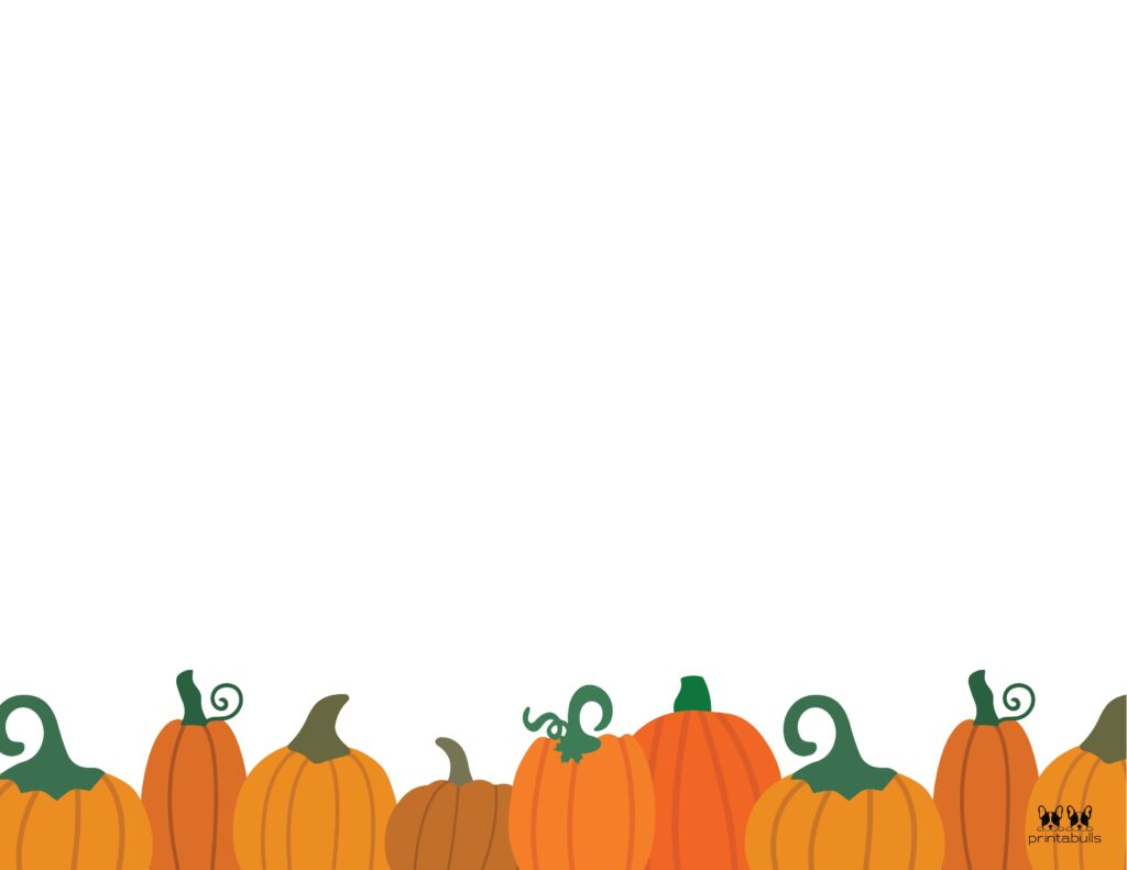 Printable Halloween Border-Page 1 Horizontal