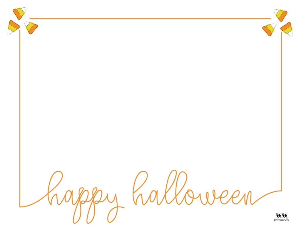 Printable Halloween Border-Page 10 Horizontal