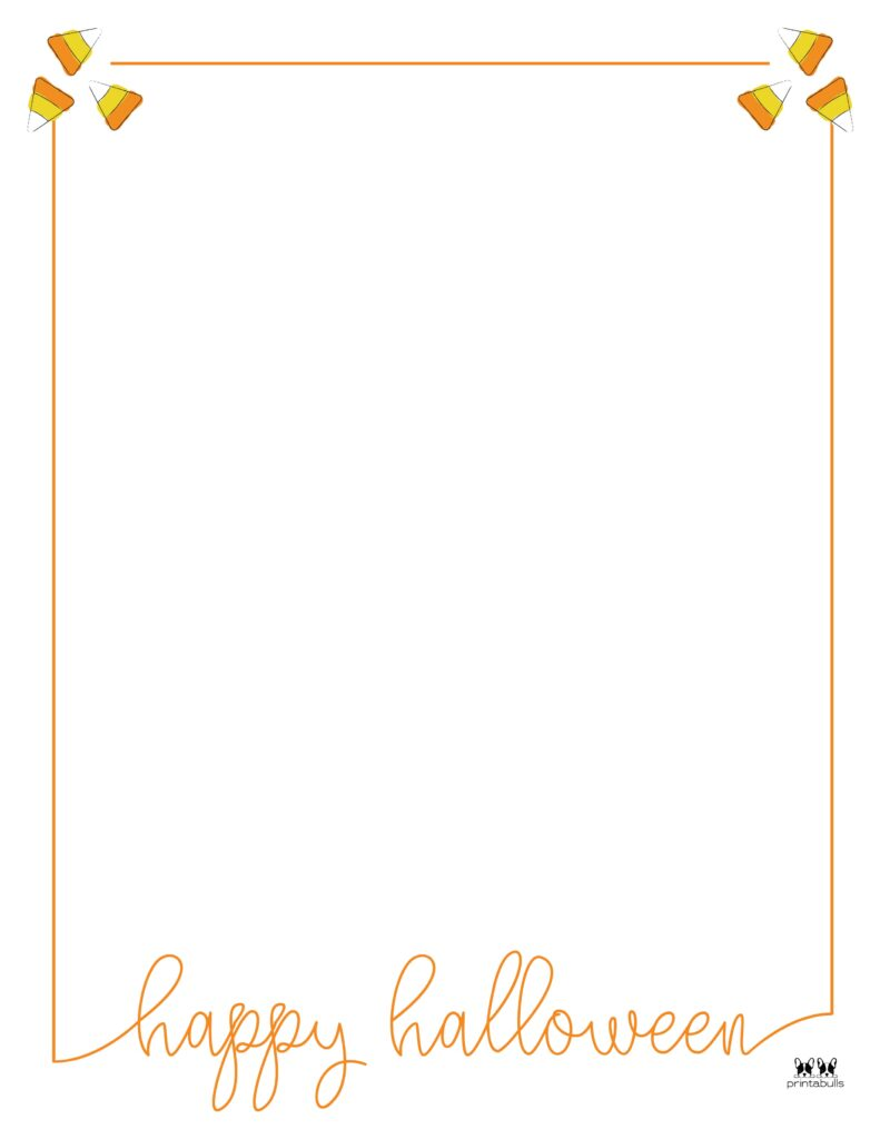 Printable Halloween Border-Page 10 Vertical