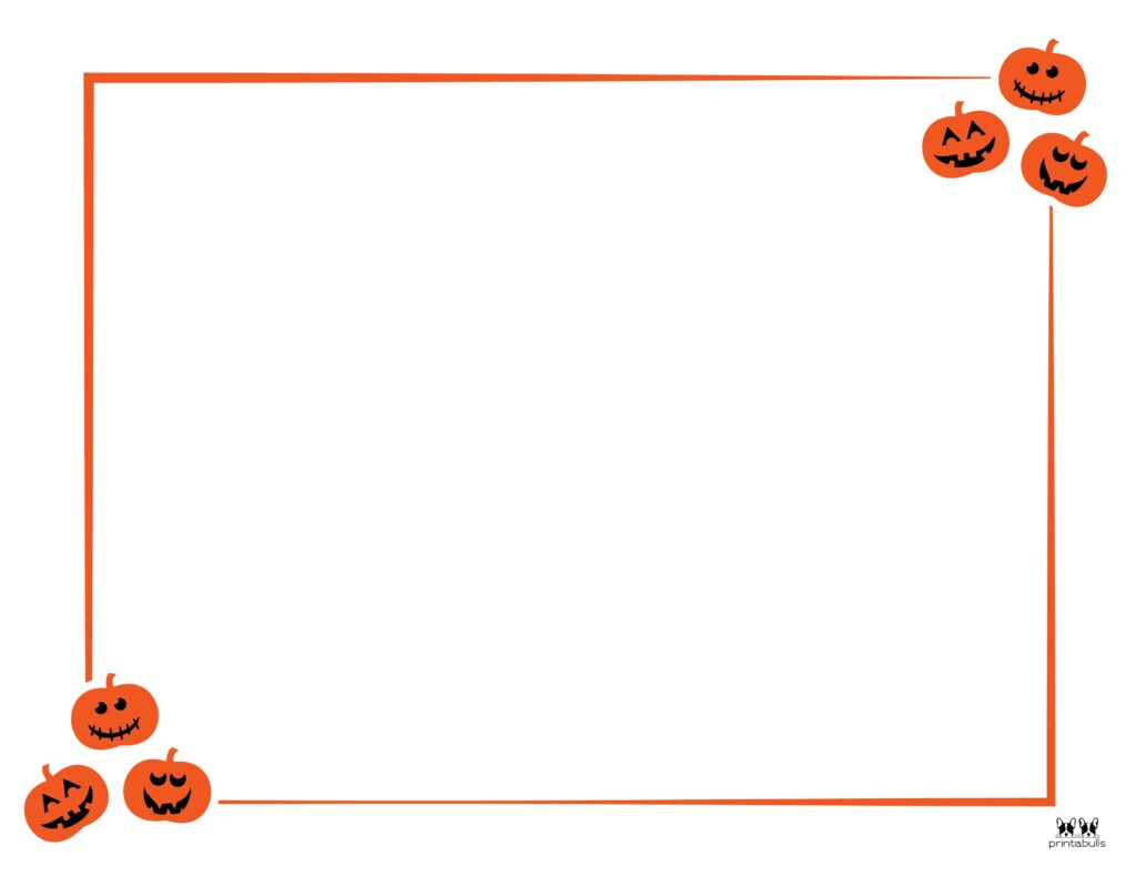 Printable Halloween Border-Page 11 Horizontal