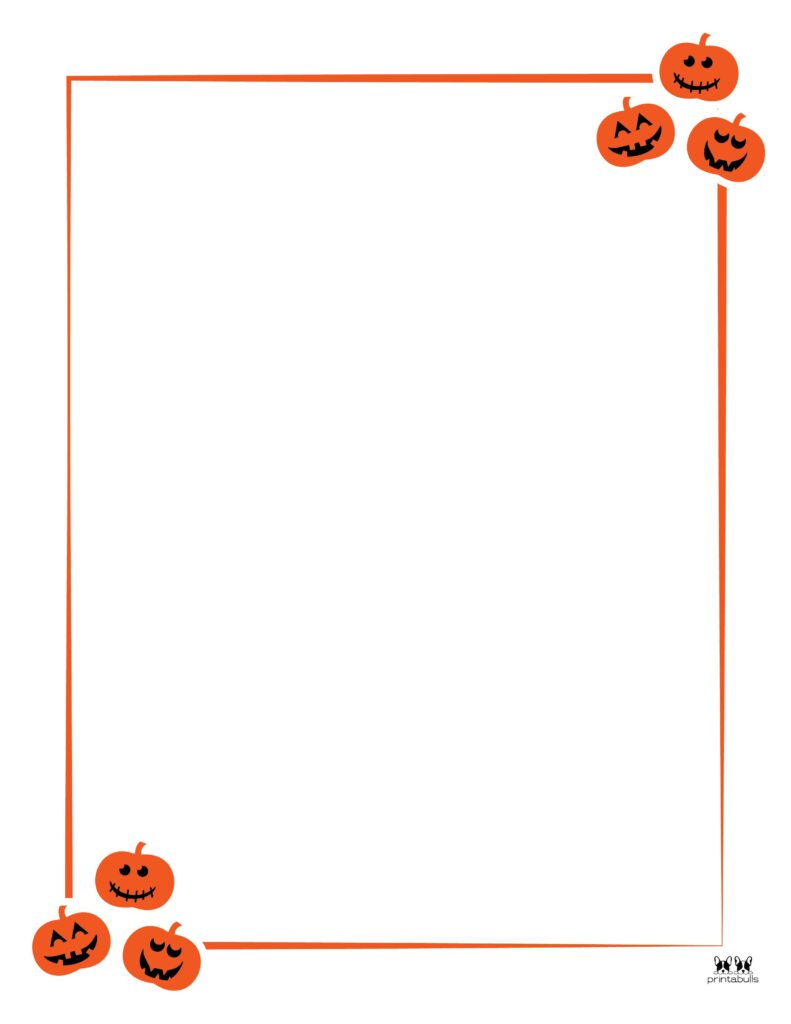 Printable Halloween Border-Page 11 Vertical
