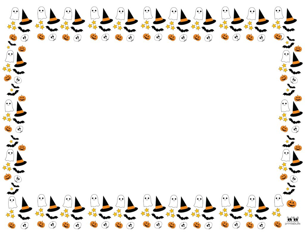 Printable Halloween Border-Page 12 Horizontal