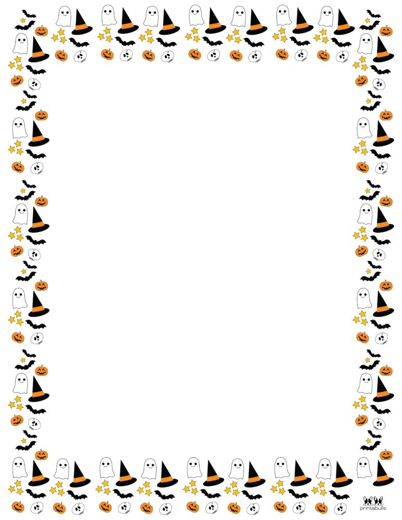 Printable Halloween Border-Page 12 Vertical