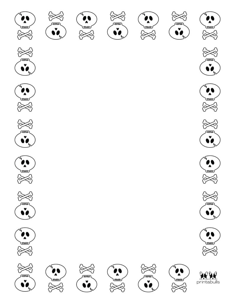 Printable Halloween Border-Page 13 Vertical