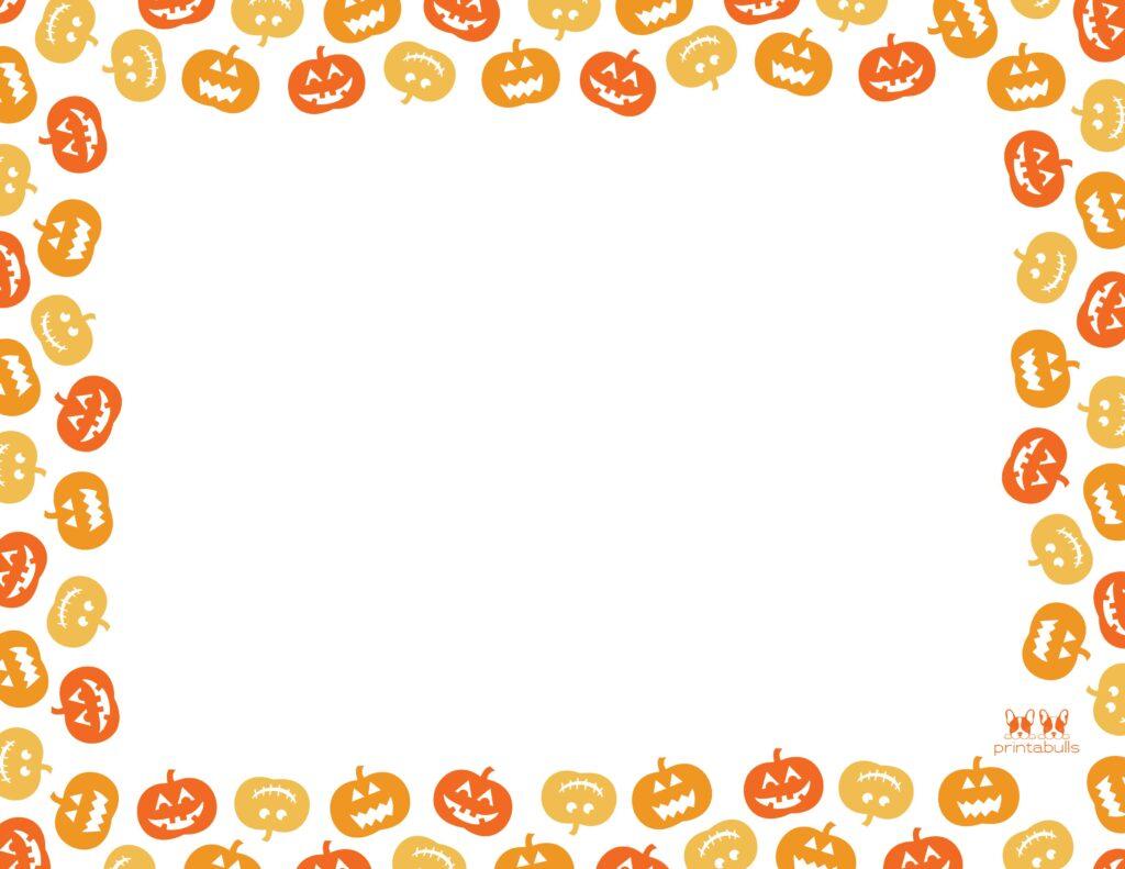 Printable Halloween Border-Page 14 Horizontal