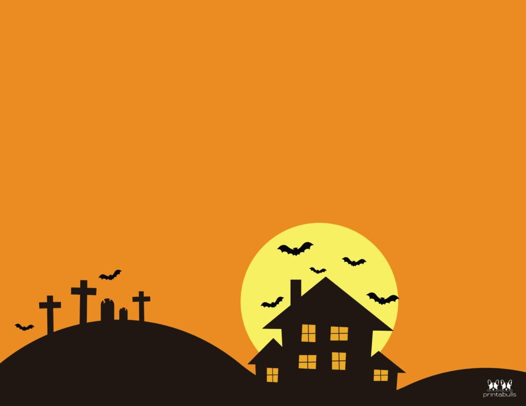 Printable Halloween Border-Page 15 Horizontal