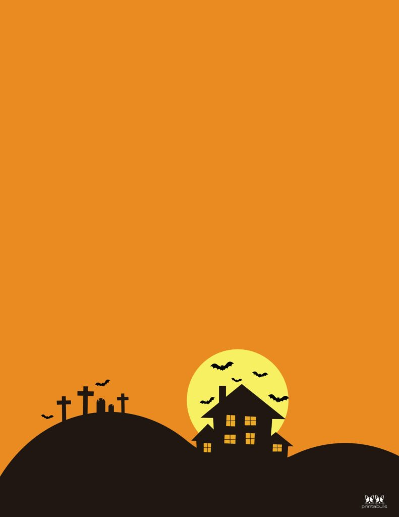 Printable Halloween Border-Page 15 Vertical