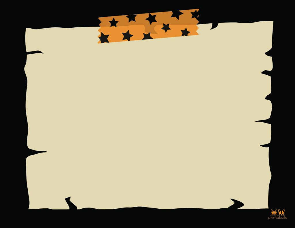 Printable Halloween Border-Page 16 Horizontal