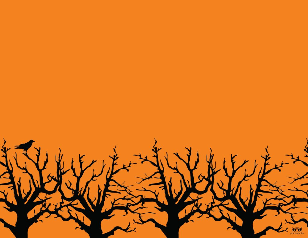 Printable Halloween Border-Page 17 Horizontal