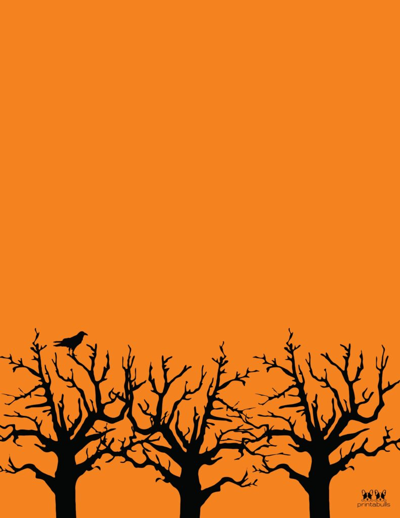 Printable Halloween Border-Page 17 Vertical