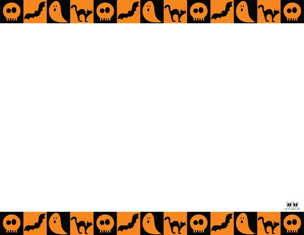 Printable Halloween Border-Page 18 Horizontal