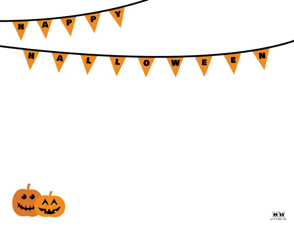 Printable Halloween Border-Page 20 Horizontal