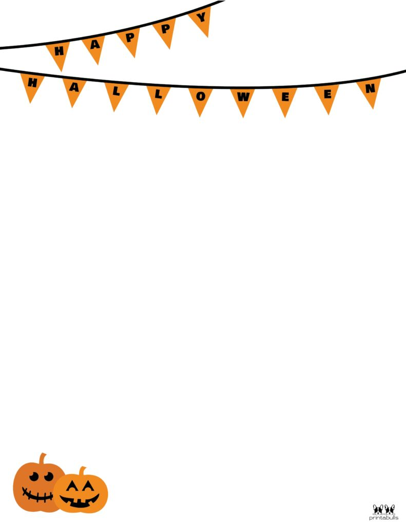 Printable Halloween Border-Page 20 Vertical
