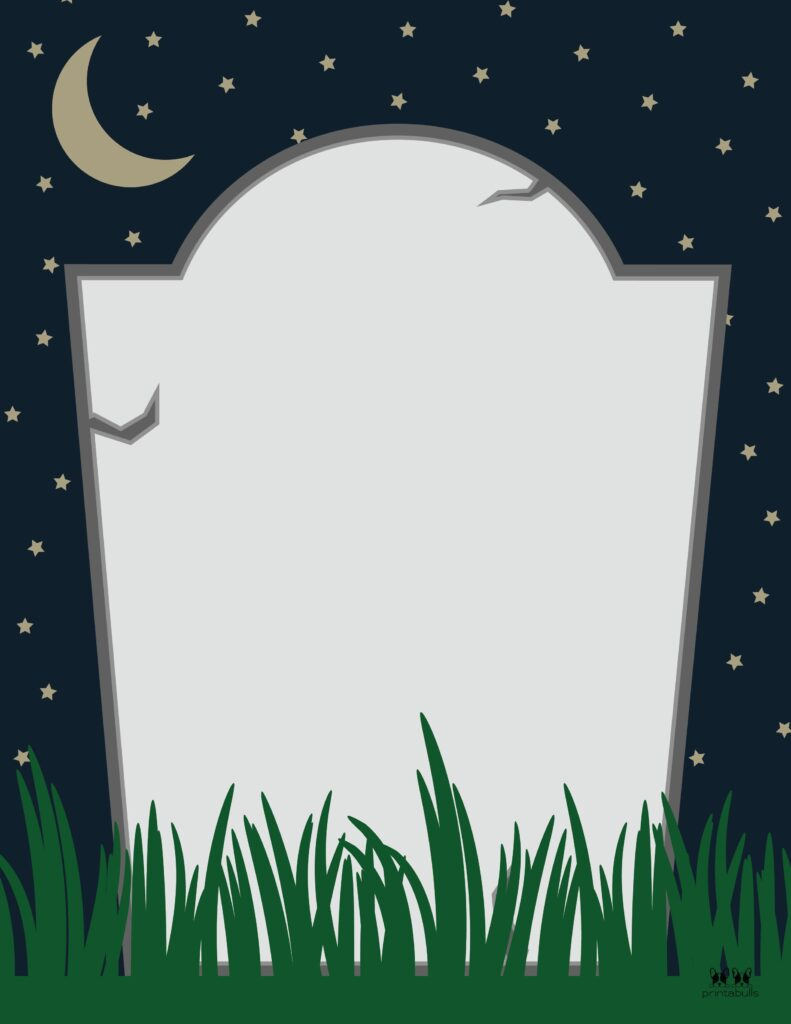 Printable Halloween Border-Page 21 Vertical