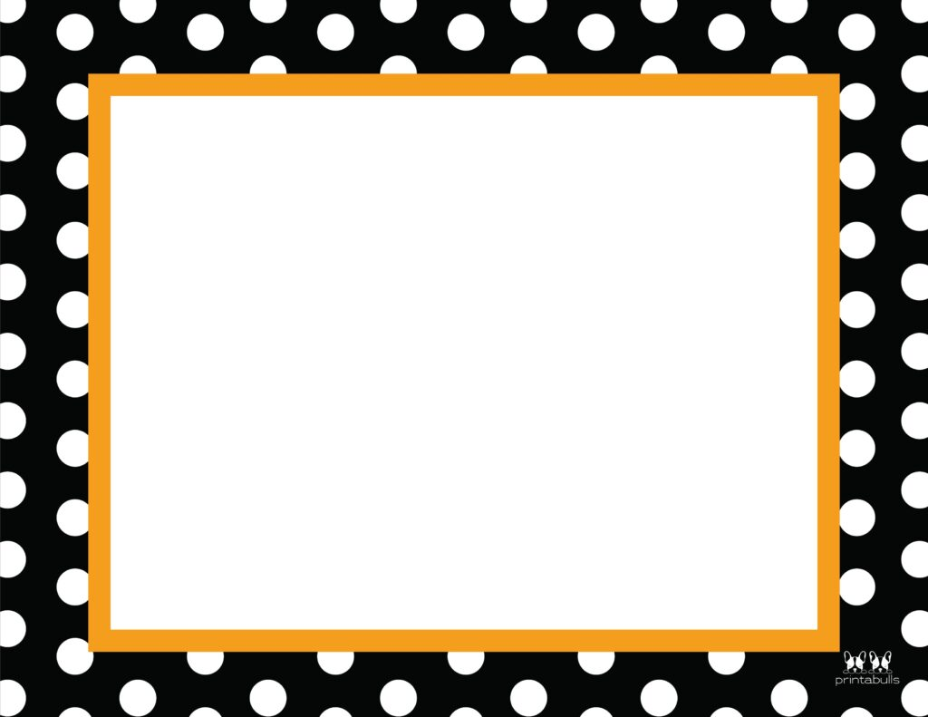 Printable Halloween Border-Page 22 Horizontal