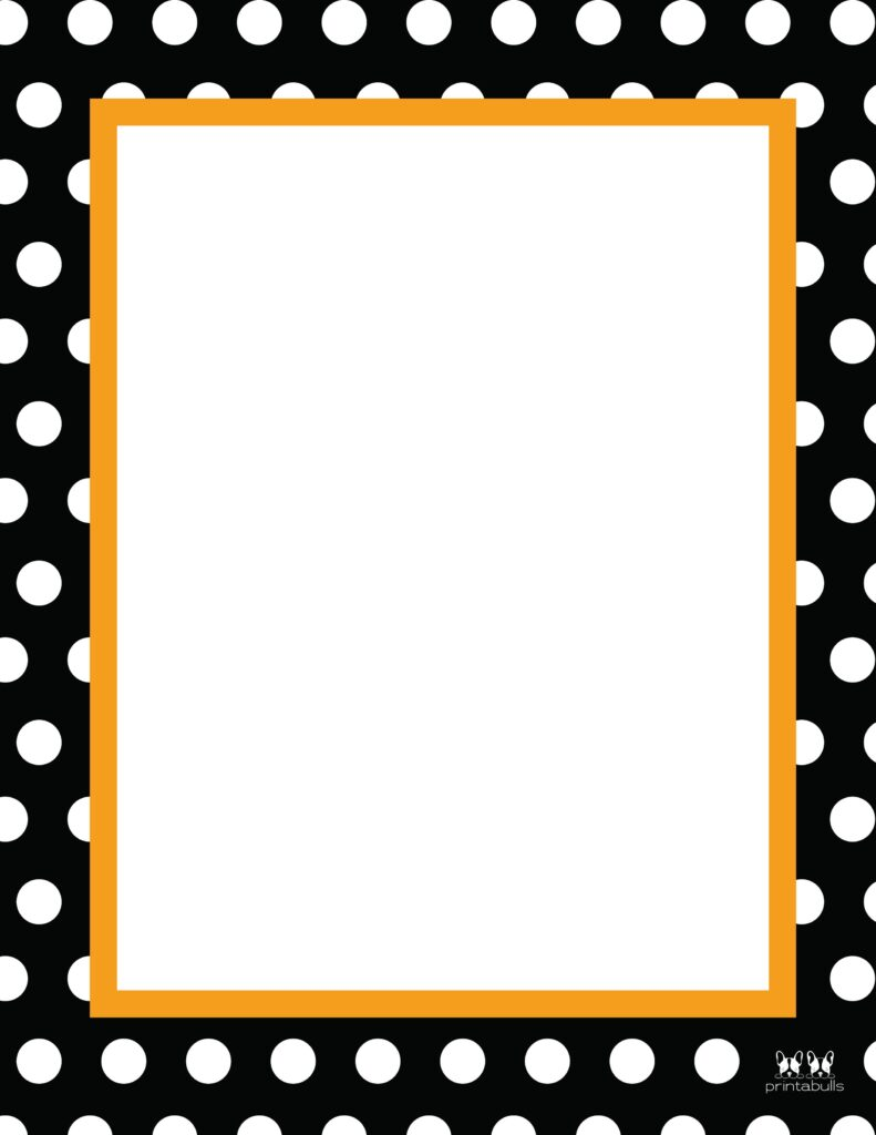 Printable Halloween Border-Page 22 Vertical