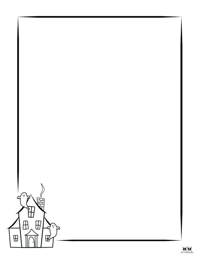 Printable Halloween Border-Page 23 Vertical