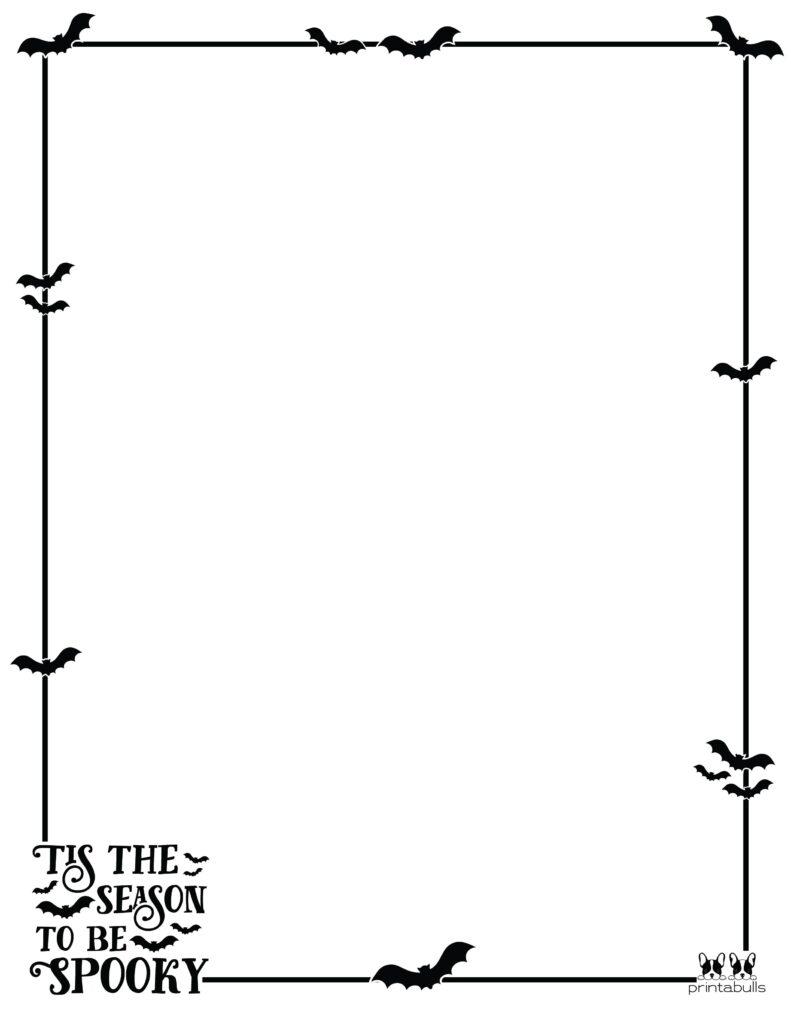 Printable Halloween Border-Page 24 Vertical
