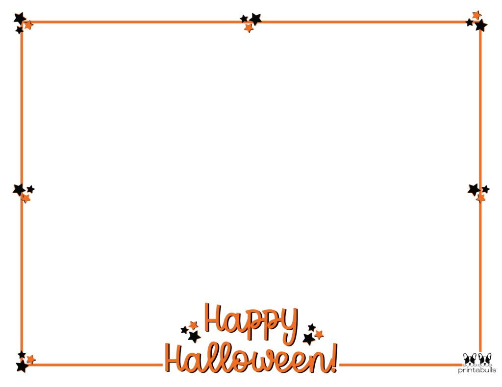 Printable Halloween Border-Page 25 Horizontal