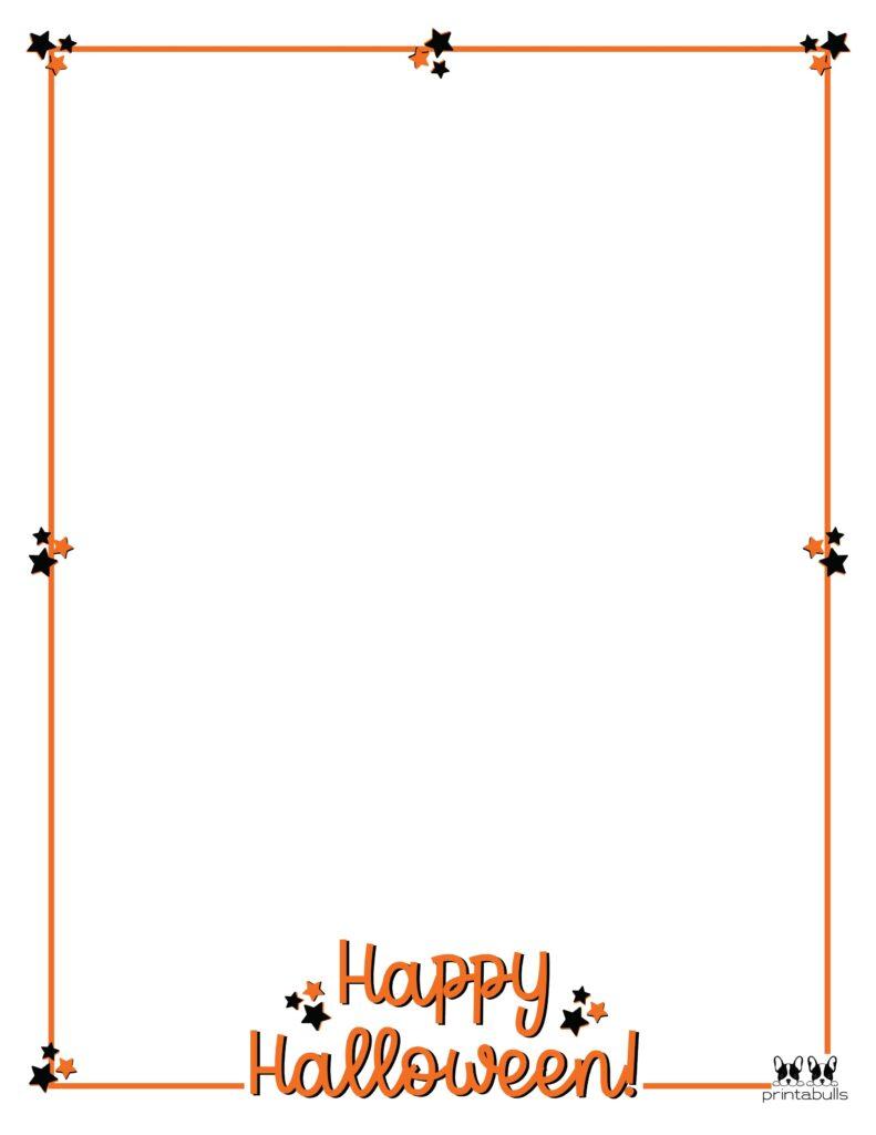 Printable Halloween Border-Page 25 Vertical