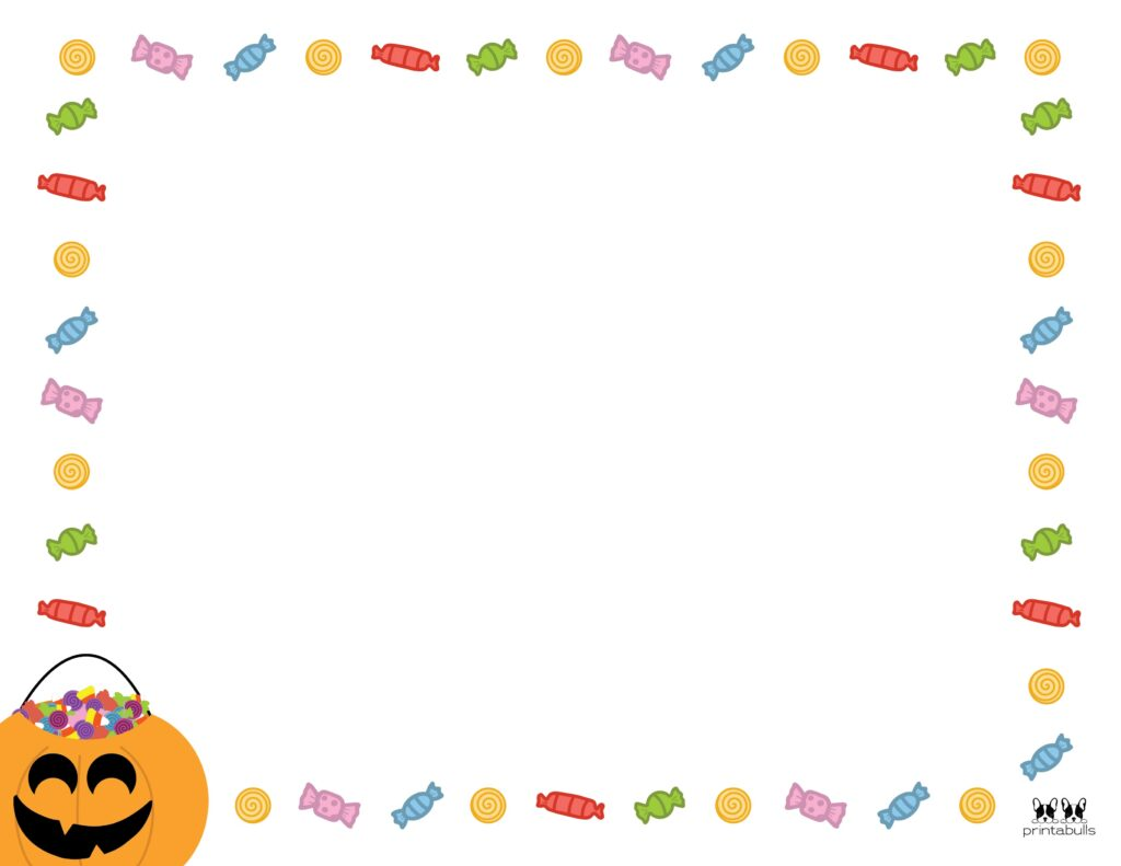 Printable Halloween Border-Page 3 Horizontal