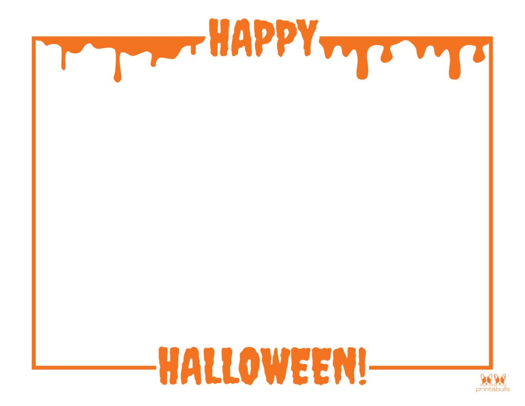 Printable Halloween Border-Page 4 Horizontal