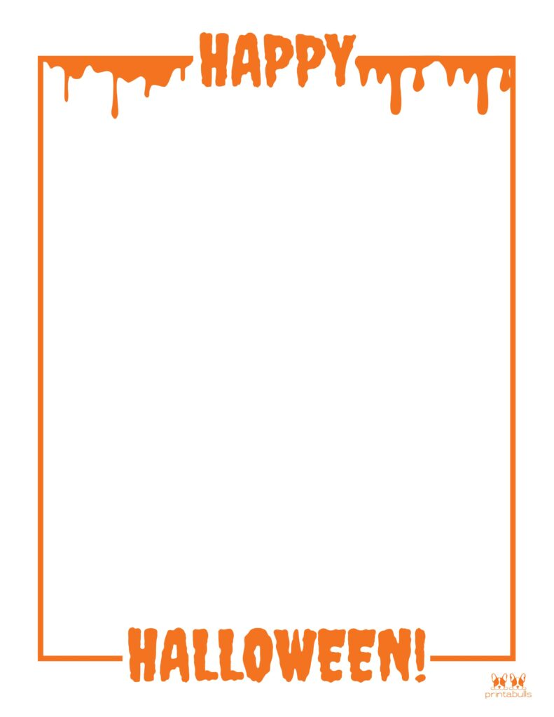 Printable Halloween Border-Page 4 Vertical