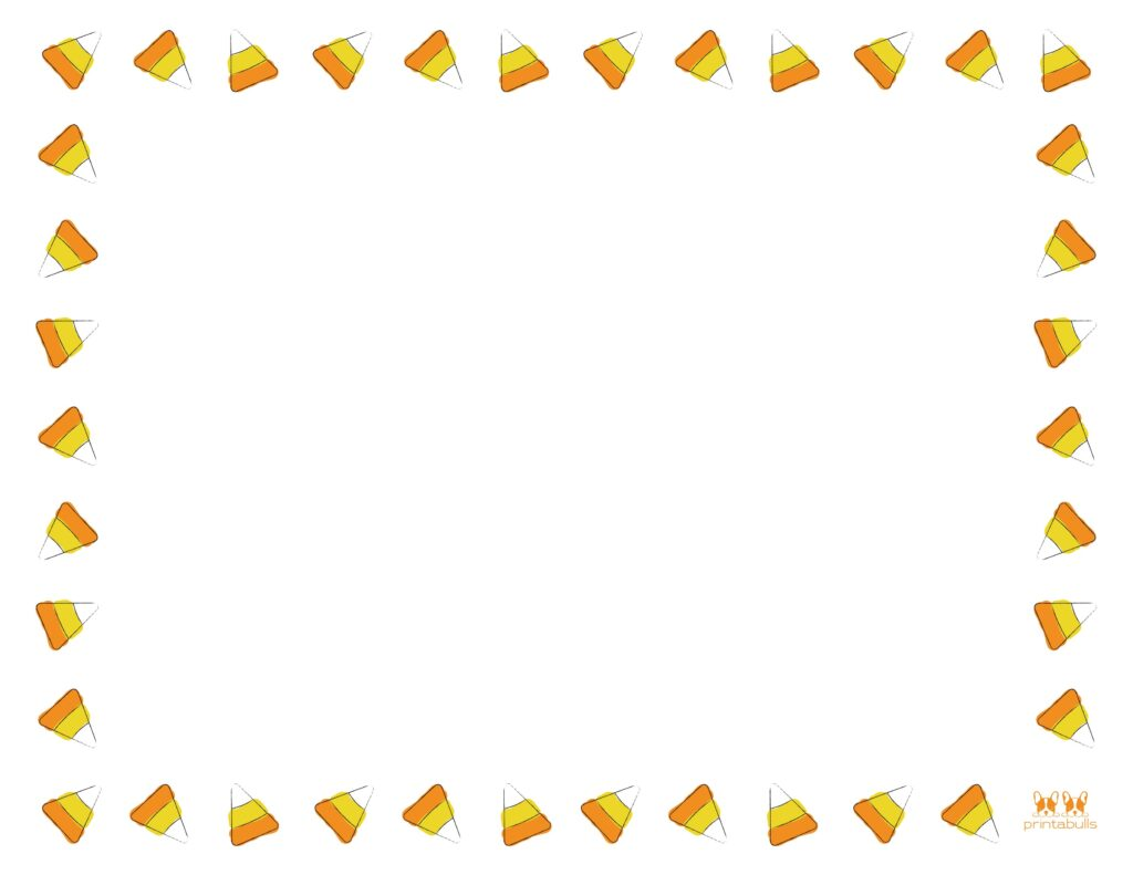Printable Halloween Border-Page 5 Horizontal