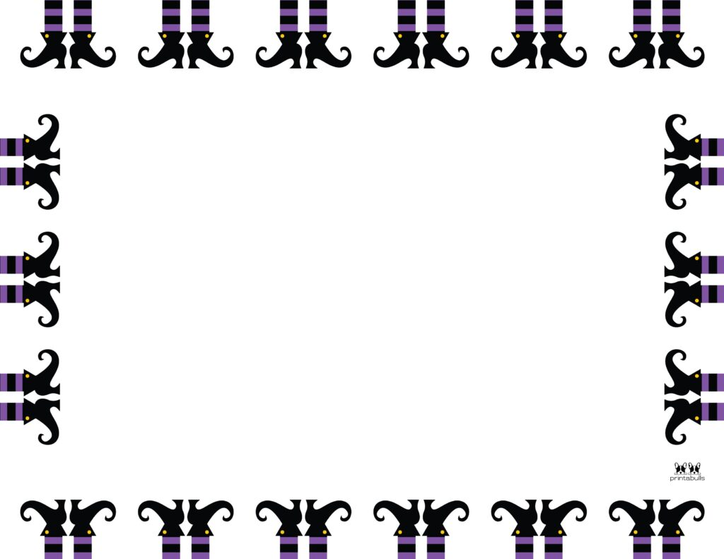 Printable Halloween Border-Page 6 Horizontal