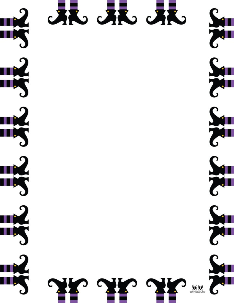Printable Halloween Border-Page 6 Vertical