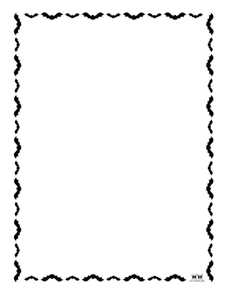 Printable Halloween Border-Page 8 Vertical