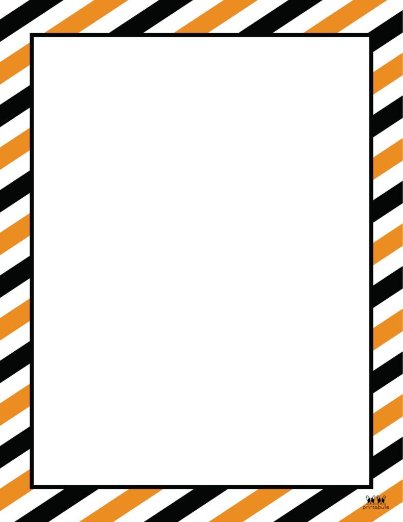 Printable Halloween Border-Page 9 Vertical