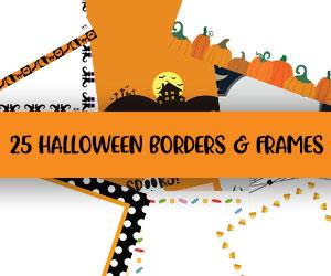 printable halloween borders and frames
