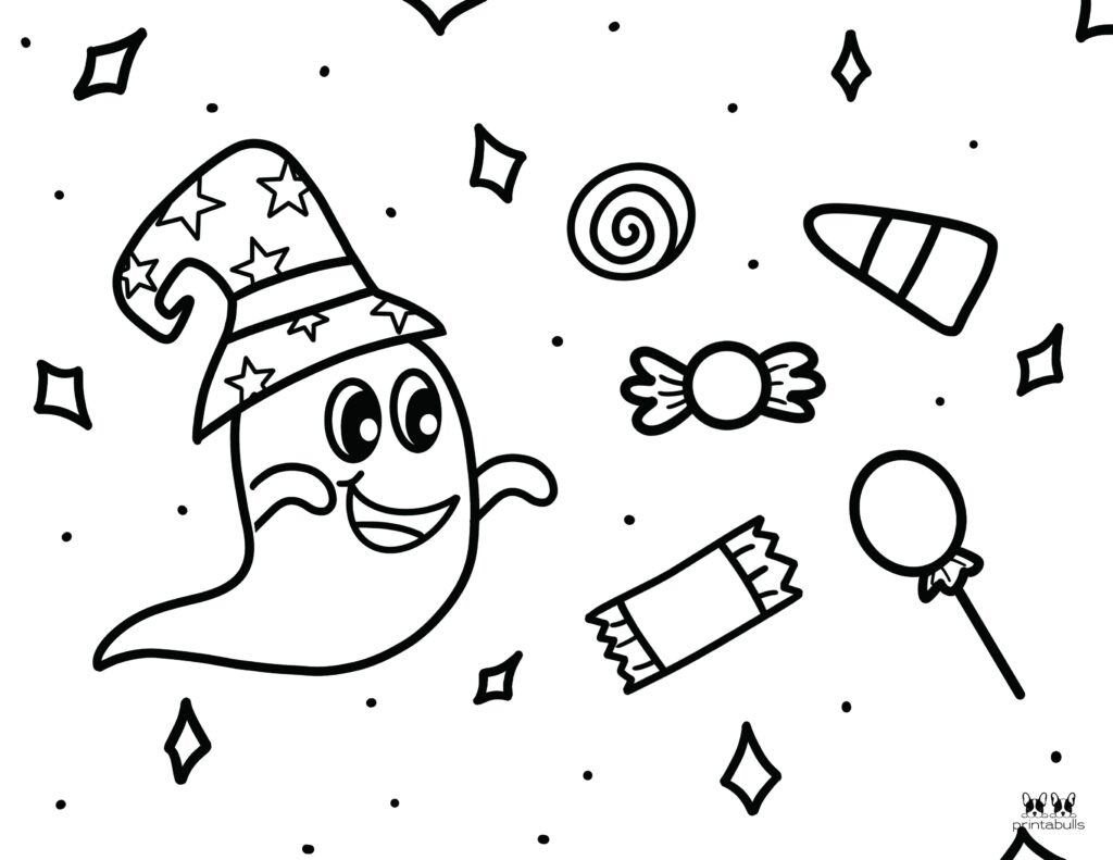 Printable Halloween Ghost Coloring Page-Page 10