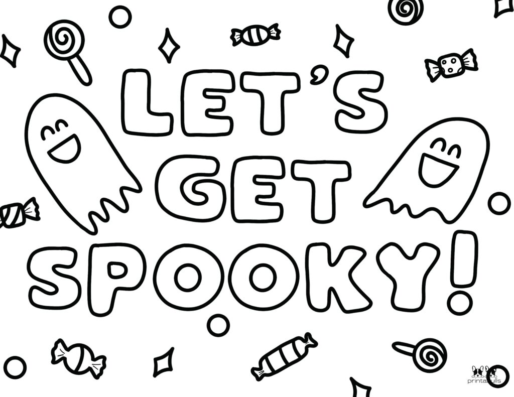 Printable Halloween Ghost Coloring Page-Page 11