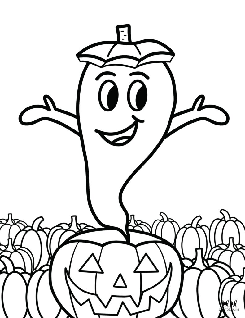 Printable Halloween Ghost Coloring Page-Page 12