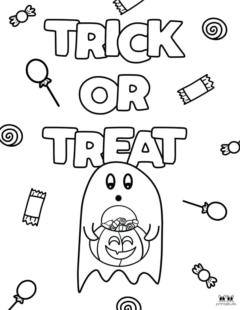 Printable Halloween Ghost Coloring Page-Page 14