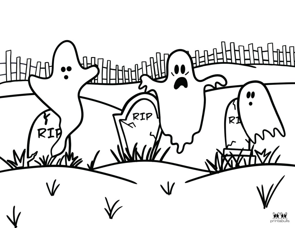 Printable Halloween Ghost Coloring Page-Page 15