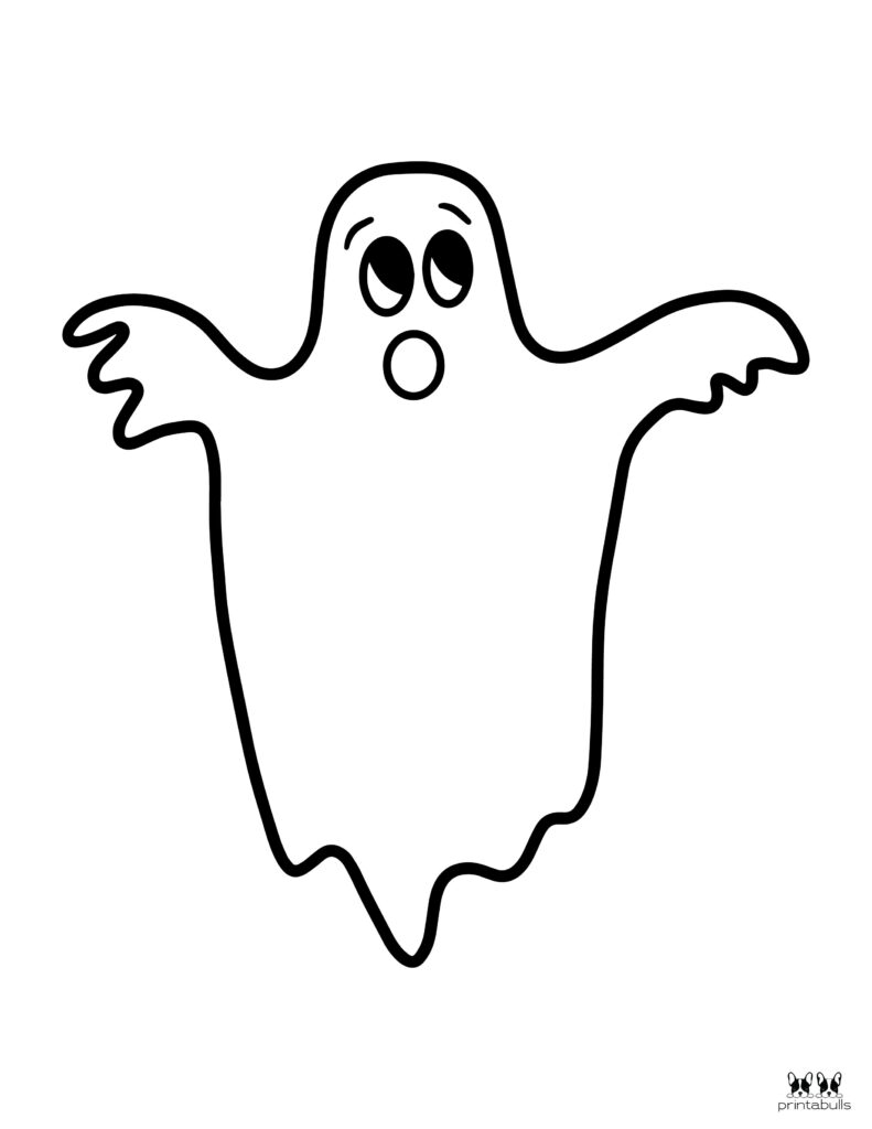 Printable Halloween Ghost Coloring Page-Page 2