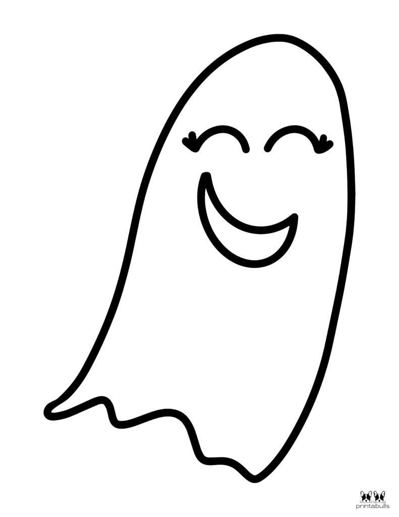 Printable Halloween Ghost Coloring Page-Page 4