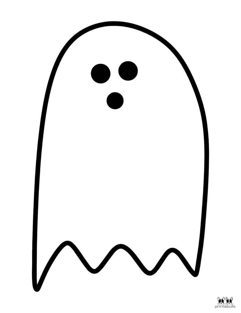 Printable Halloween Ghost Coloring Page-Page 5
