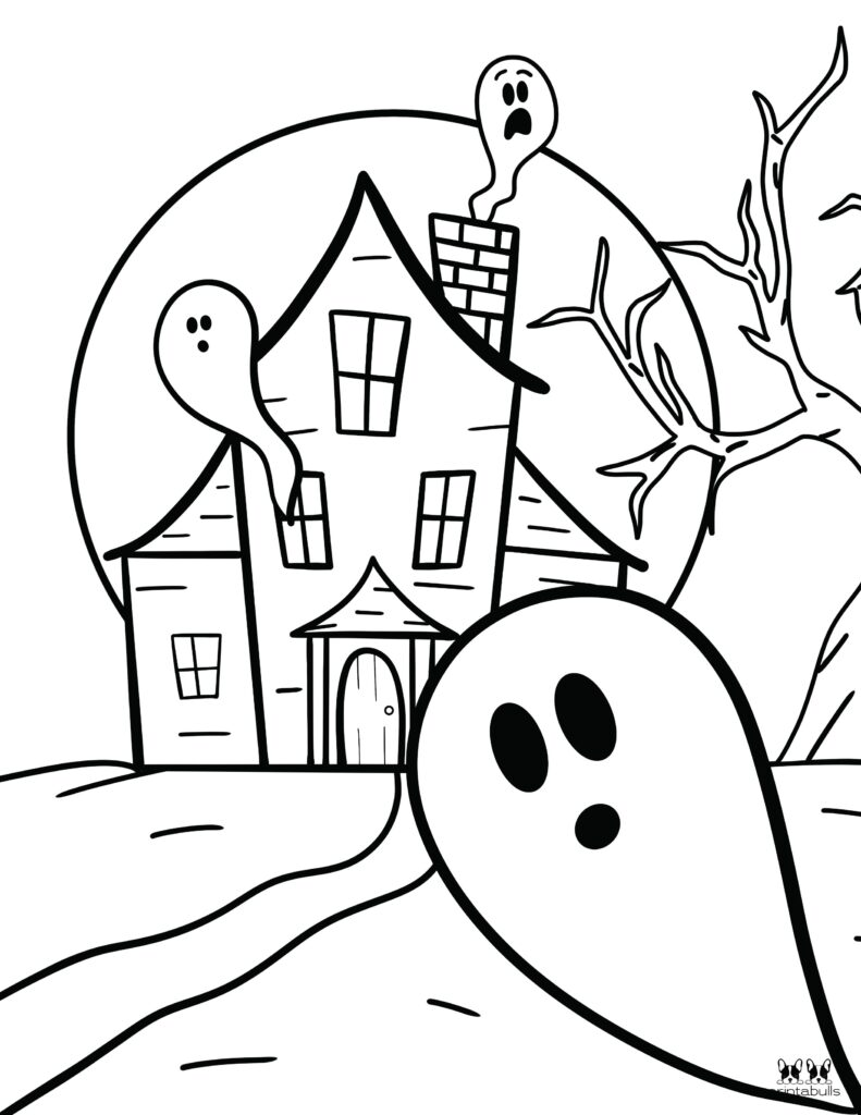 Printable Halloween Ghost Coloring Page-Page 6